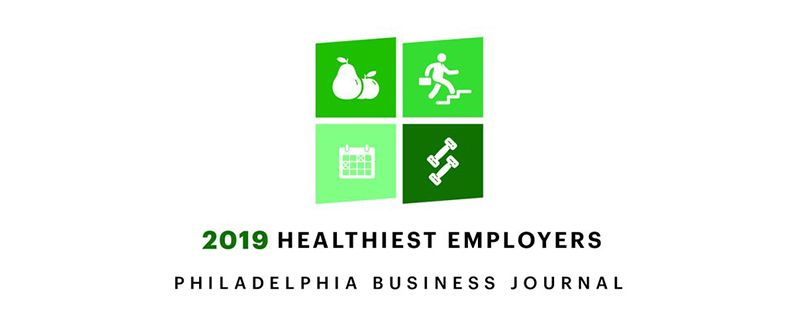 2019 Healthiest Employer in Philadelphia: Philadelphia Business Journal